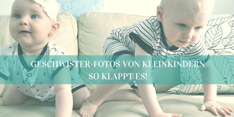 Geschwister-Fotos von Kleinkindern: So klappt es!