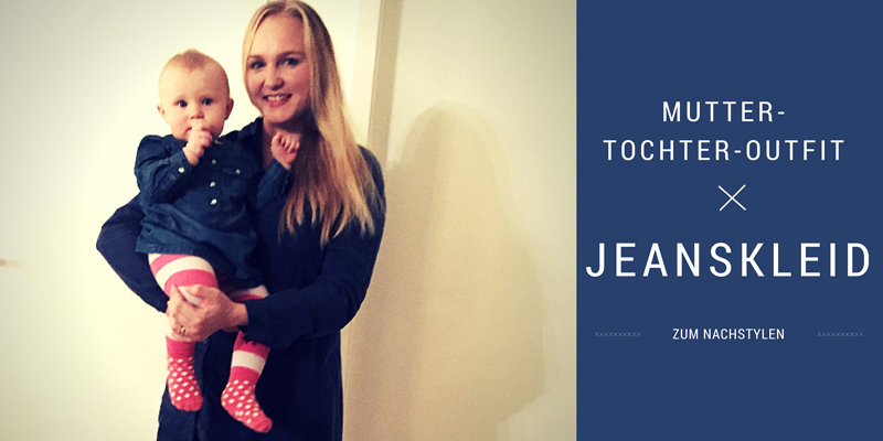 Mutter-Tochter-Outfit: Jeanskleid