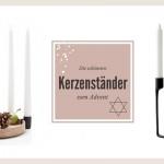 Dekorative Kerzenständer für den Advent