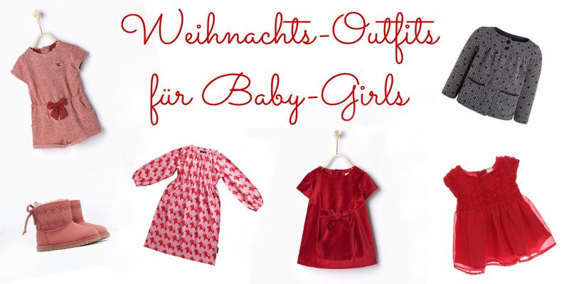 Weihnachtskleidung für Babys: Outfits für Mädchen