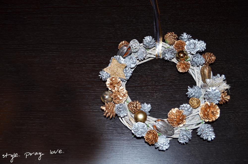 Diy Winter Turkranz Selber Basteln Style Pray Love