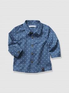 6-sternen-popeline-hemd-vertbaudet