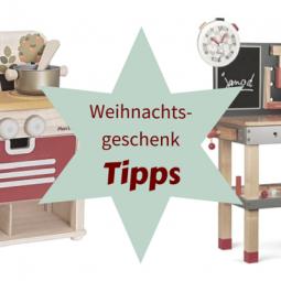 Spielspaß zu Weihnachten: Kaufmannsladen, Küche und Werkbank
