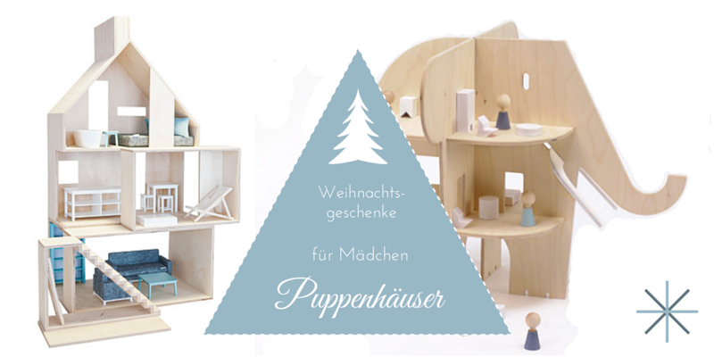 Weihnachtsgeschenke für Mädchen: dekorative Puppenhäuser