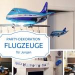 Party-Dekoration für Jungen: Flugzeuge