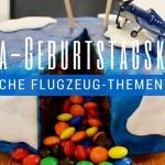 Einfache Flugzeug-Thementorte: Piñata-Geburtstagskuchen mit Smarties-Füllung
