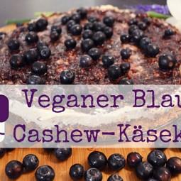 Veganer Blaubeer-Cashew-Käsekuchen