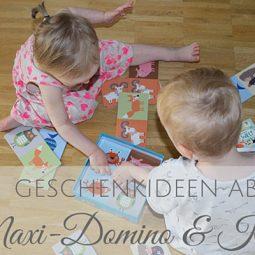 Ein supersüßes Maxi-Domino & ein niedliches Kinderbuch
