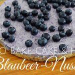 No Bake Cake: gesunder Blaubeer-Nusskuchen