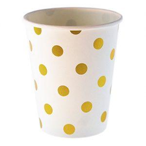 pappbecher-goldene-punkte-polkadots