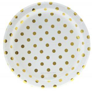 pappteller-goldene-punkte-polkadots