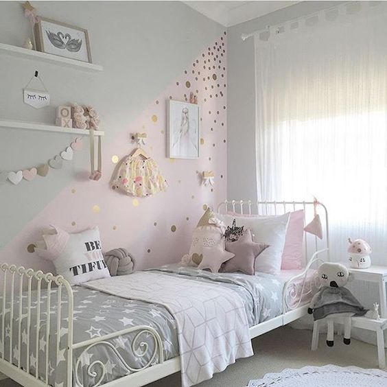 Kinderzimmer inspiration f r m dchen for Kinderzimmer grau rosa