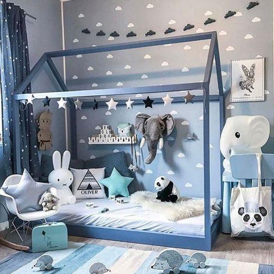 Atemberaubend Kinderzimmer Bett Haus Fotos - Hauptinnenideen ...