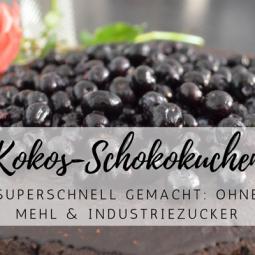 Ohne Mehl & Industriezucker: Blaubeer-Kokos-Schokokuchen deluxe