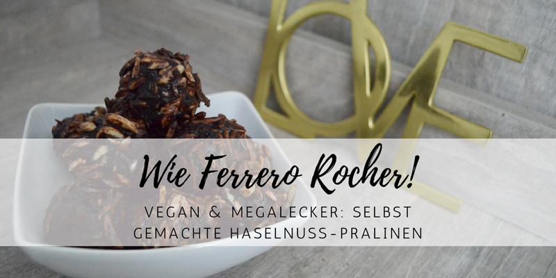 Raw vegan Rezept: selbstgemachte Ferrero Rocher Pralinen