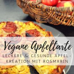 Vegane Apfeltarte mit Rosmarin: superlecker und gesund!
