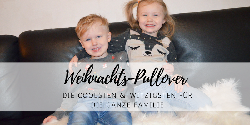 Coole Weihnachts-Pullover für die ganze Familie!