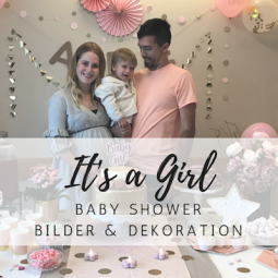 It's a Girl: Baby Shower Party in Rosa und Gold
