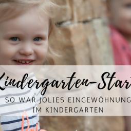 Jolies Eingewöhnung im Kindergarten