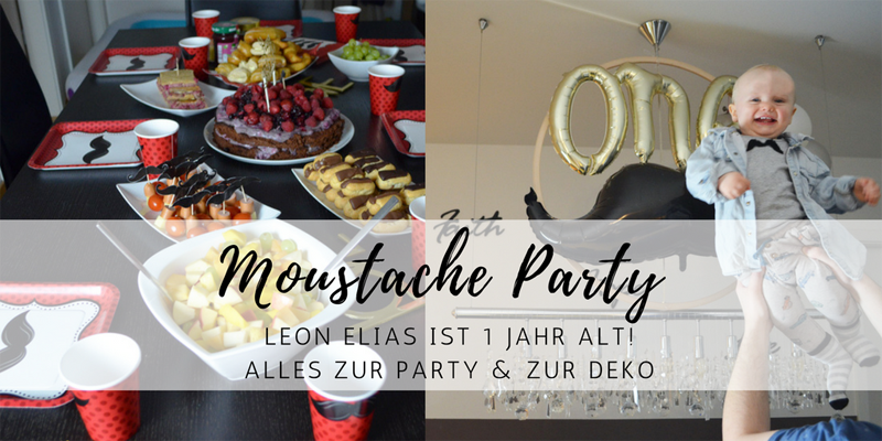 Moustache Party: Leons 1. Geburtstag