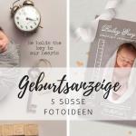 Geburtsanzeige: 5 Fotoideen für Karten zur Geburt