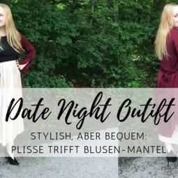 Date Night Outfit: stylisher und bequemer Plisse-Look