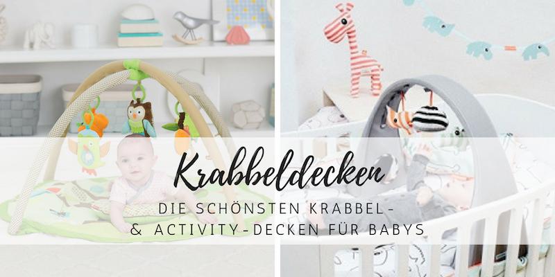 Schöne Krabbel- und Activity-Decken für Babys