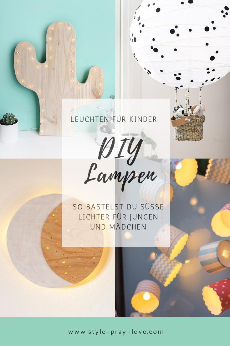 DIY: Süße Lampen und Leuchten fürs Kinderzimmer • style-pray-love