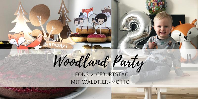 Woodland-Party: Waldtiere an Leons 2. Geburtstag