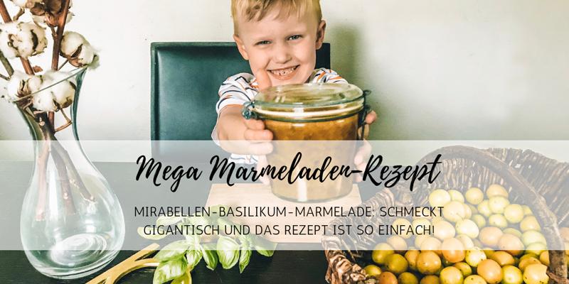 Einfaches Rezept: Mirabellen-Basilikum-Marmelade