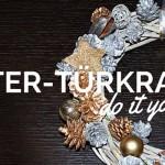 DIY: Winter-Türkranz selber basteln