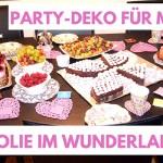 Party-Dekoration für Mädchen: Jolie im Wunderland