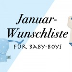 Januar-Wunschliste für Baby-Boys