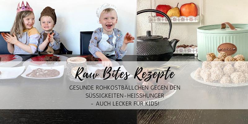 Raw Bites Rezepte: gesunde Rohkostbällchen gegen den Süßigkeiten-Heißhunger
