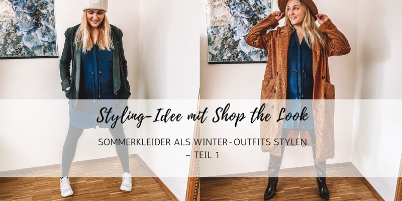 Styling-Idee: Sommerkleider als Winter-Outfits stylen – mit Shop the Look