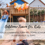 Outdoor-Traum für Kids: genialer Kinderspielturm mit Doppelschaukel