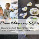 Muttertags-Idee: haltbare Blumen-Anhänger aus Salzteig