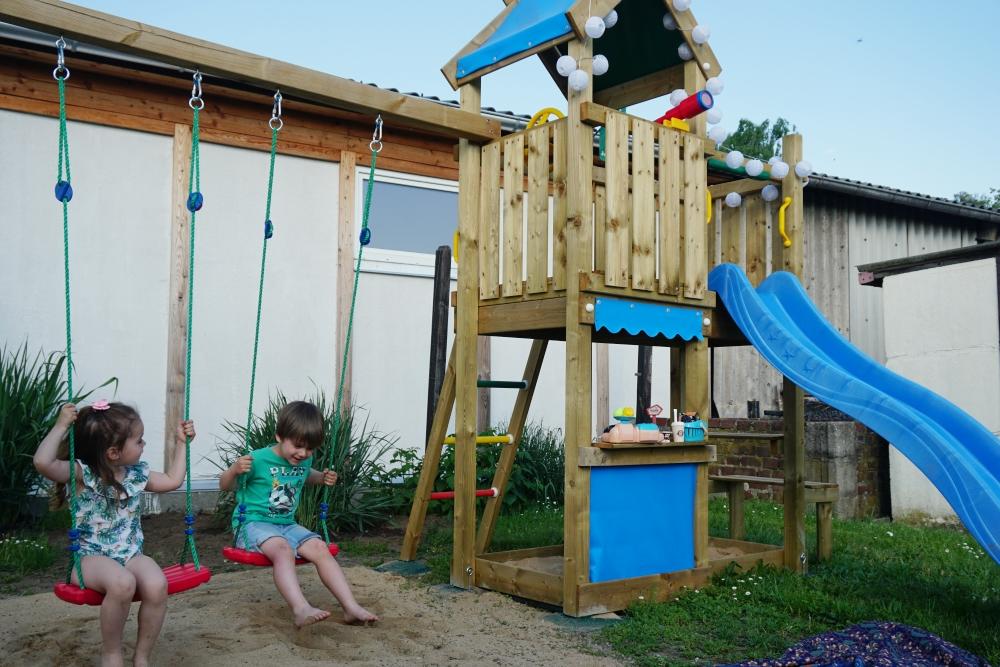 Jungle Gym Doppelschaukel und Outdoor-Spieltraum