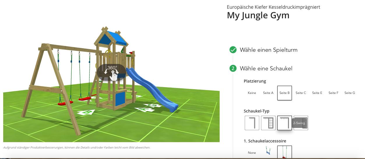 Spielturm konfigurieren Jungle Gym